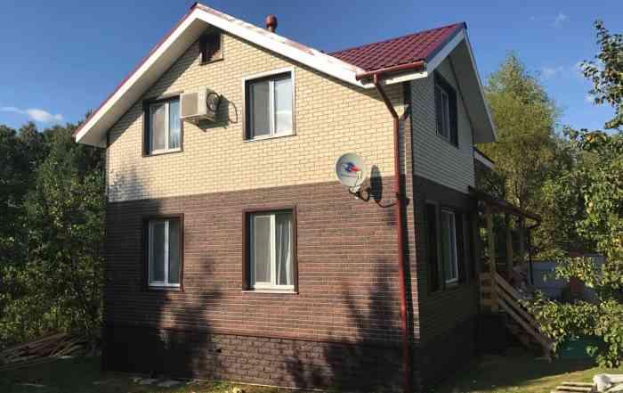 Фасадные панели фагот чеховский кирпич жженый кирпич белый фото