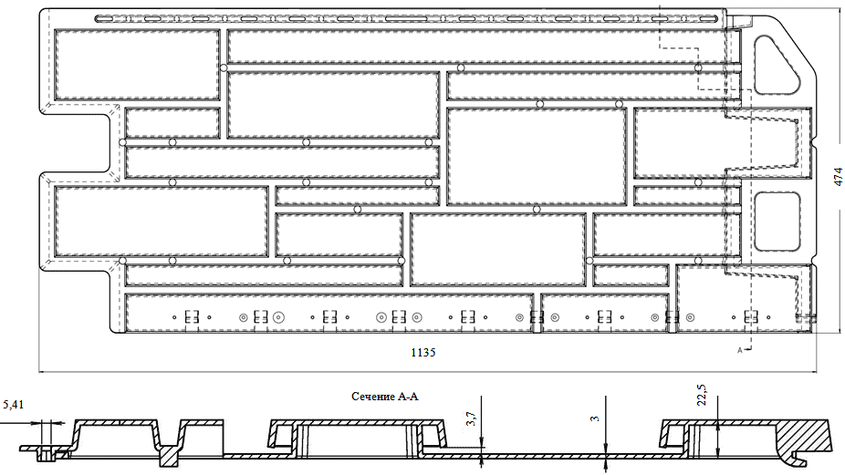 панель камень чертеж