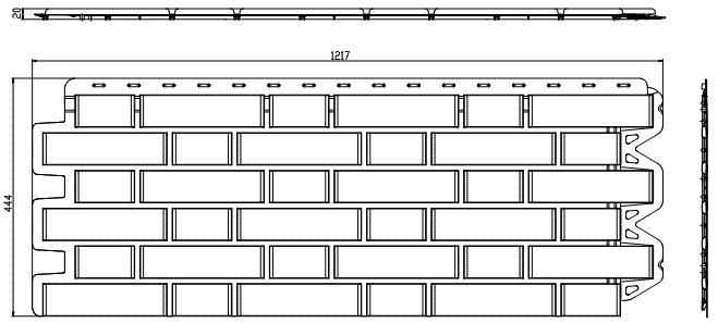панель кирпич клинкерный чертеж