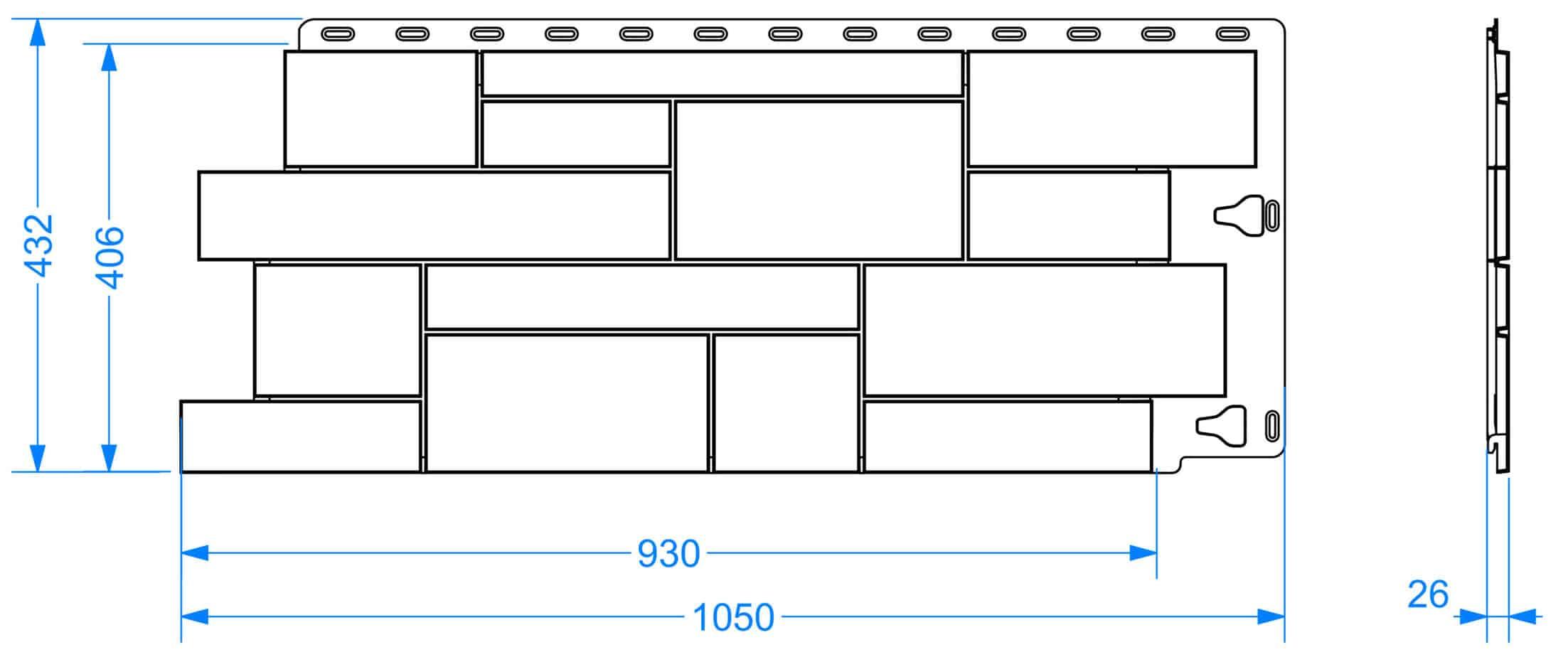 панель Slate чертеж