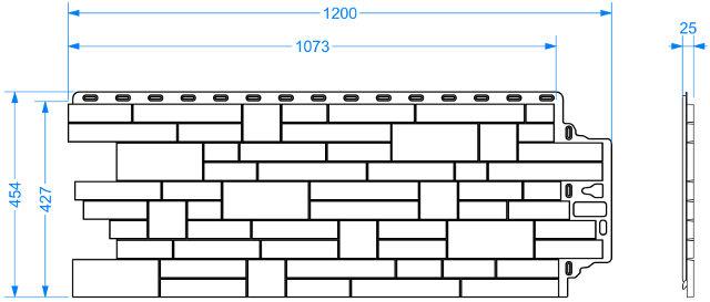 Фасадная панель Docke STERN чертеж