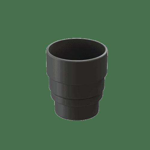 Docke Водостоки LUX Муфта-переходник (ГРАФИТ)