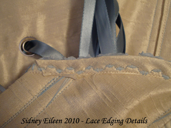 How to Add Lace Edging to a Corset, by Sidney Eileen