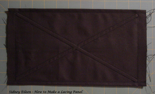 How to Make a Boned Lacing Panel, corset making tutorial by Sidney Eileen