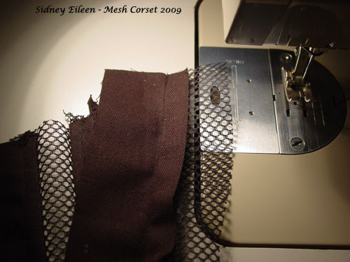 How to Make a Sport Mesh Corset - 07, by Sidney Eileen