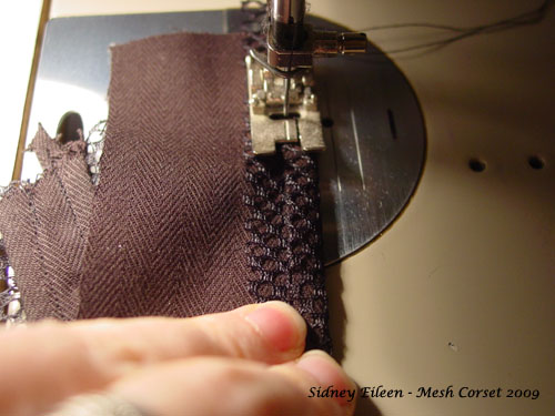 How to Make a Sport Mesh Corset - 09, by Sidney Eileen