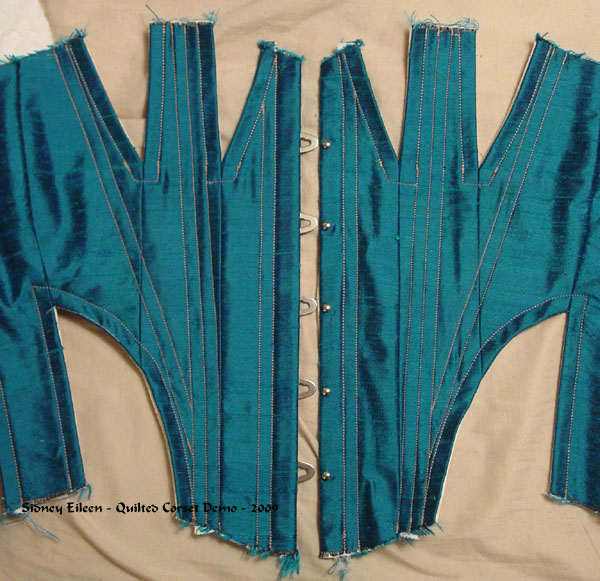 Construction Demo - Quilted Gore Victorian Corset - 13, by Sidney Eileen