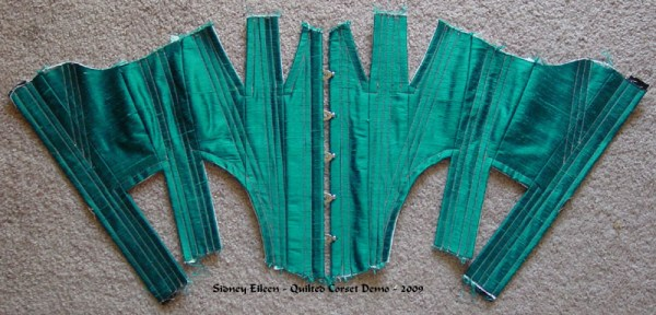 Construction Demo - Quilted Gore Victorian Corset - 16, by Sidney Eileen
