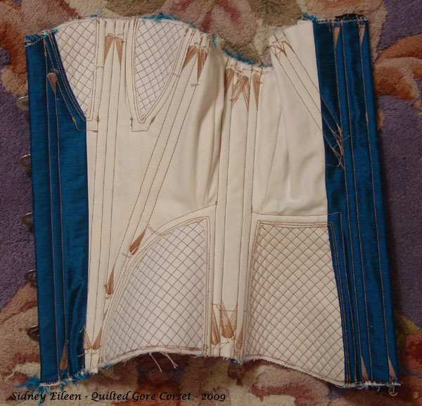 Construction Demo - Quilted Gore Victorian Corset - 31, by Sidney Eileen