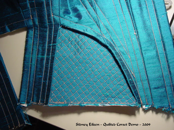 Construction Demo - Quilted Gore Victorian Corset - 25, by Sidney Eileen
