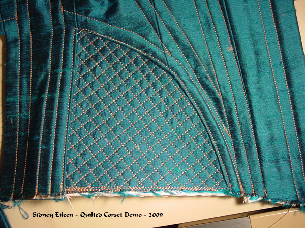 Construction Demo - Quilted Gore Victorian Corset - 27, by Sidney Eileen
