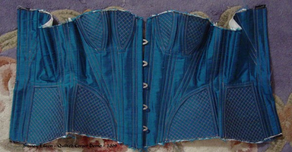 Construction Demo - Quilted Gore Victorian Corset - 29, by Sidney Eileen