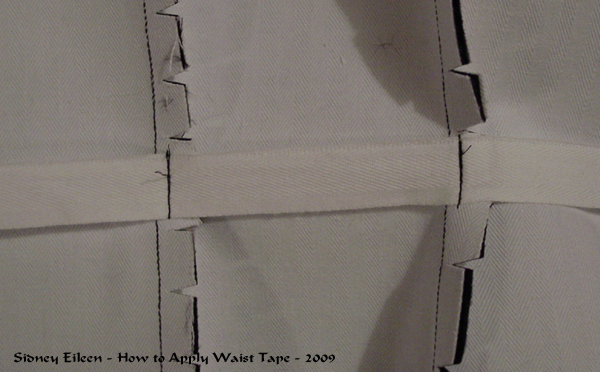 How to add Waist Tape to a Corset - 01, by Sidney Eileen