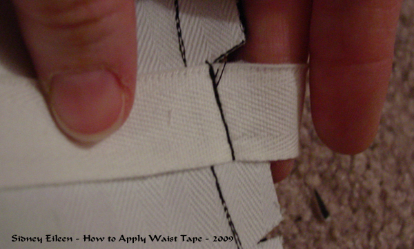 How to add Waist Tape to a Corset - 02, by Sidney Eileen