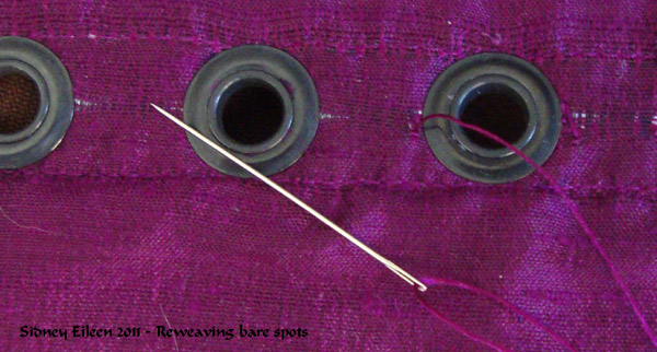 Re-Weaving Around Grommets, by Sidney Eileen