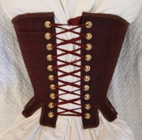 Brown Silk Renaissance Stays - Back View, by Sidney Eileen