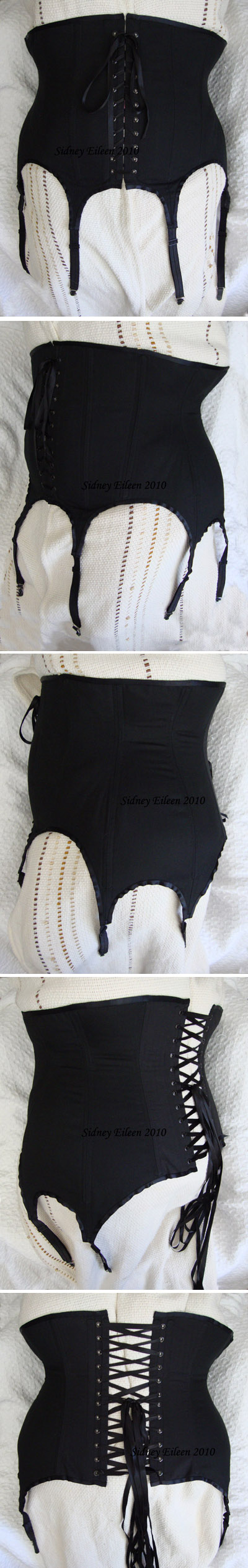Plus-Size Tight Lacing with Garters - All Views, by Sidney Eileen