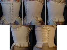 Basic Renaissance Stays (Old Style) - Front Lacing, by Sidney Eileen