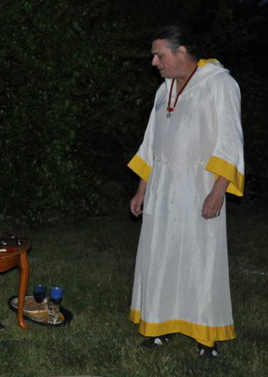 White and Yellow Wiccan Longrobe, by Sidney Eileen