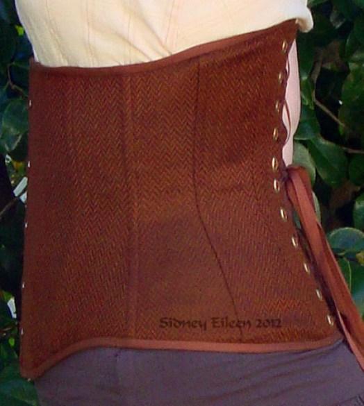 Brown Herringbone Underbust - Side View, by Sidney Eileen