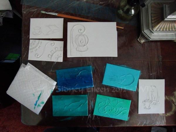 Steampunk-Meme Minimalist Paintings - Group1 - WIP2