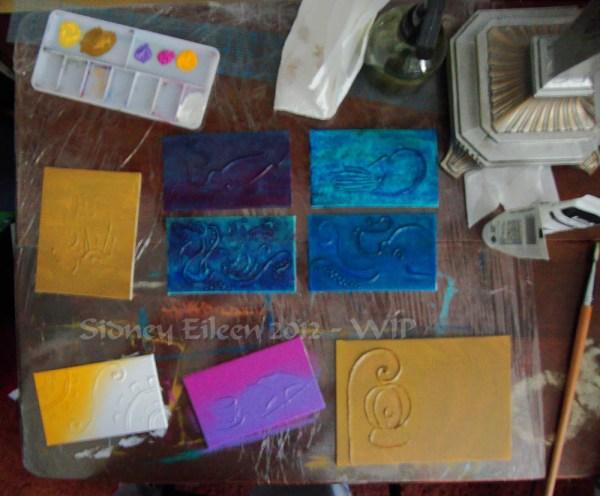 Steampunk-Meme Minimalist Paintings - Group1 - WIP3