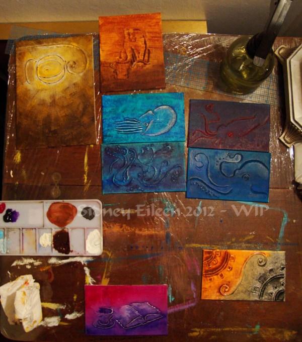 Steampunk-Meme Minimalist Paintings - Group1 - WIP6