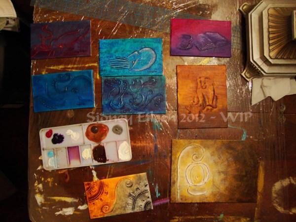 Steampunk-Meme Minimalist Paintings - Group1 - WIP7