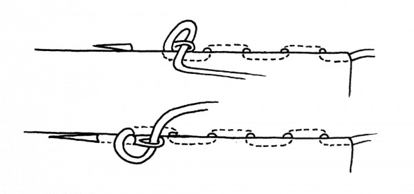 Hidden Running Stitch, How to Make Regency Period Fan Lacing, by Sidney Eileen