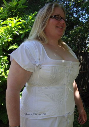 Corded Regency Corset - Modeled, by Sidney Eileen