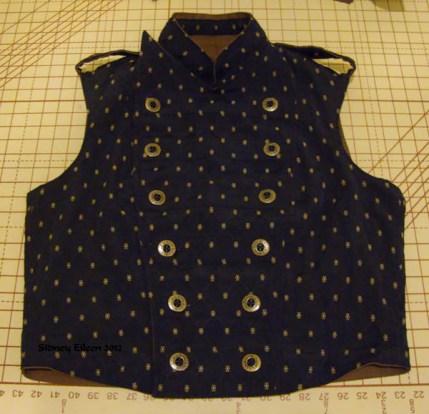 Men's Reversible Vest - Brocade, Closed, by Sidney Eileen