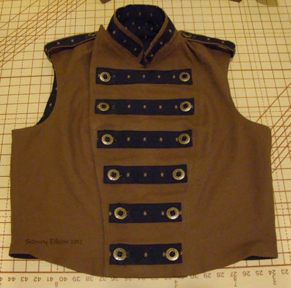 Men's Reversible Vest - Canvas, Closed, by Sidney Eileen