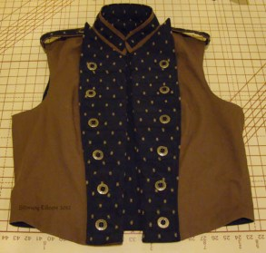Men's Reversible Vest - Canvas, Open, by Sidney Eileen