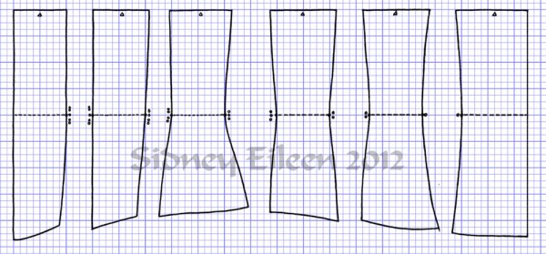 """Square"" Proportion Underbust Corset Scale Pattern - How to Draft an Underbust Corset From Scale, by Sidney Eileen"