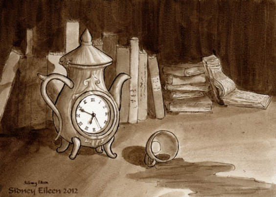 Title: Six Fifty, Artist: Sidney Eileen, Medium: ink on aquabord