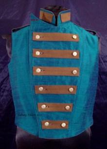 Colorful Violin Vest Final - Blue Side - Closed