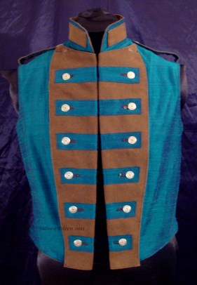 Colorful Violin Vest Final - Blue Side - Buttoned Neat