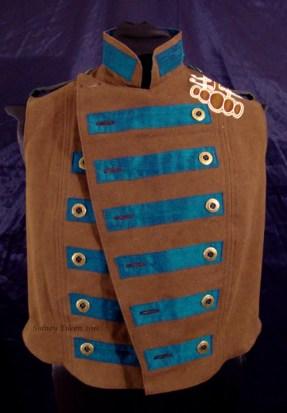 Colorful Violin Vest Final - Brown Side - Open