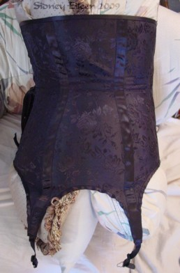 Brocade Underbust With Attached Garters, Seamstress: Sidney Eileen