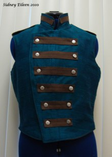 Colorful Violin Vest Prototype - Blue Side - Closed Front