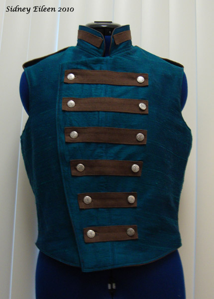 Colorful Violin Vest Prototype - Blue Side - Closed Front