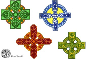 Title: Flash - Celtic Crosses 1, Artist: Sidney Eileen, Medium: pen and marker on paper