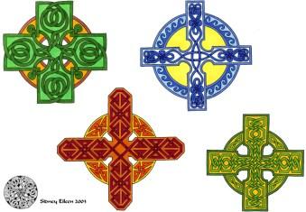 Title: Flash - Celtic Crosses 1, Artist: Sidney Eileen, Medium: pen and marker on paper