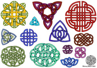 Title: Flash - Celtic Knots 1, Artist: Sidney Eileen, Medium: pen and marker on paper