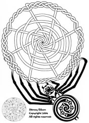 Title: Celtic Knotwork Spider, Artist: Sidney Eileen, Medium: pen on paper