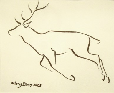 Title: Min. Deer 1, Artist: Sidney Eileen, Medium: brush marker on paper