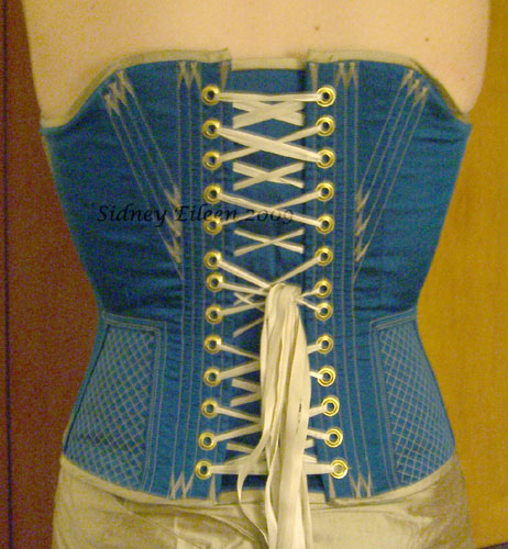 Quilted and Flossed Silk Overbust v.2 - Back View, by Sidney Eileen