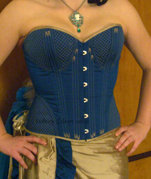 Quilted and Flossed Silk Overbust v.2 - Front View, by Sidney Eileen