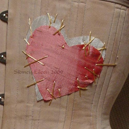"""Rag Doll"" Underbust - Detail - Heart, by Sidney Eileen"