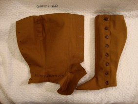 Fitted Brown Canvas Gaiters, by Sidney Eileen